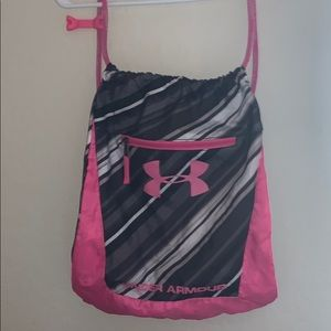 Under armour pull string backpack